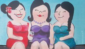 Vrouwen ontmoeten dikke Zeer dikke